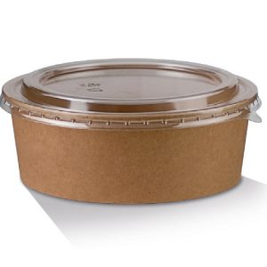 Biodegradable salad bowl with lid