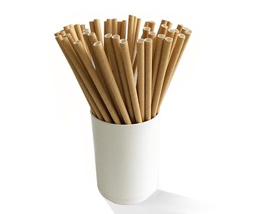 Biodegradable brown paper straws