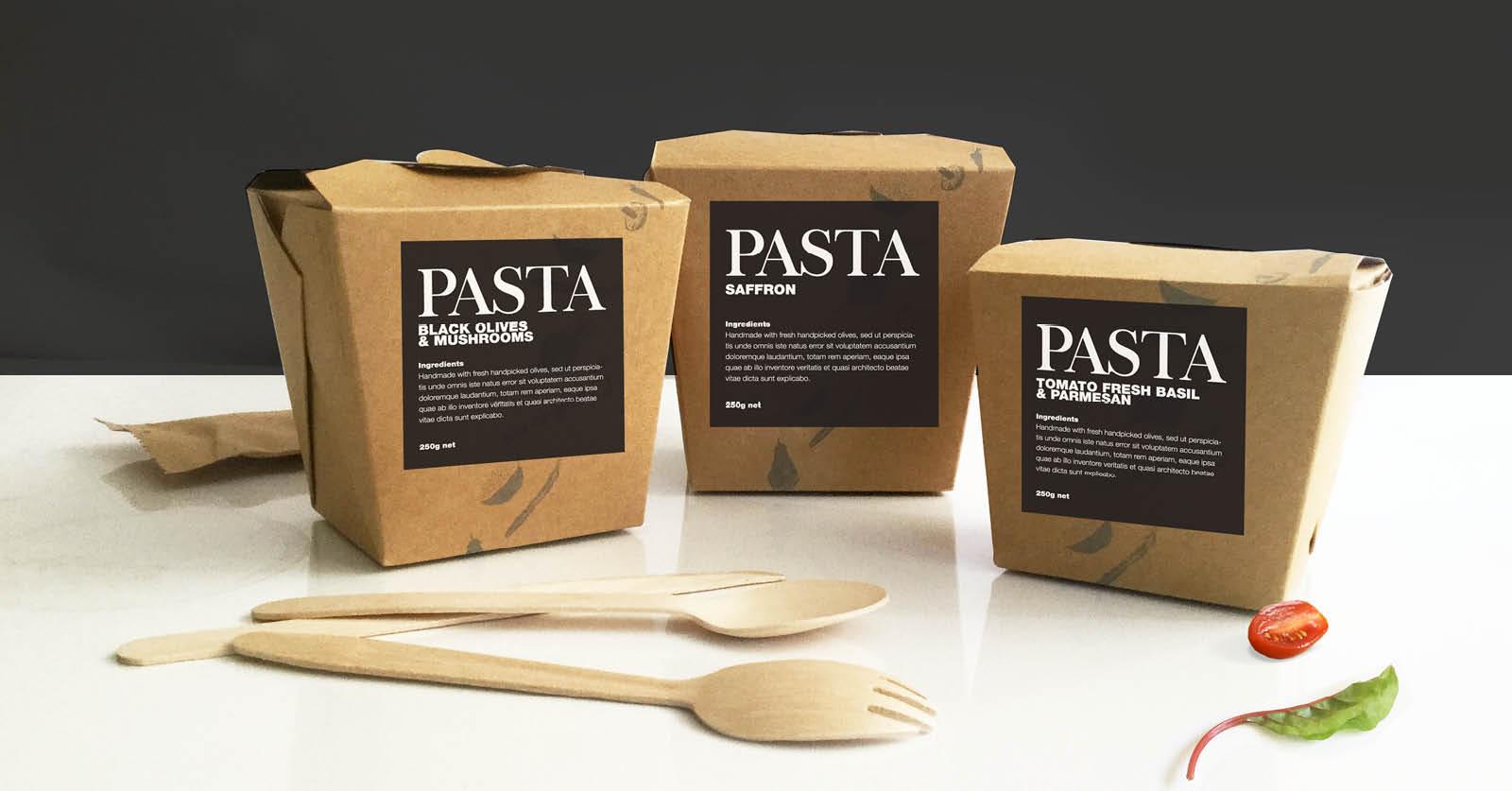 Bespoke noodle box labels