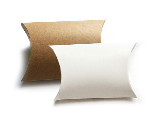 pillow boxes white and brown
