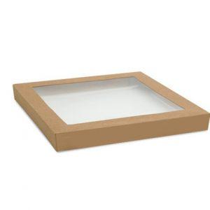 kraft catering tray lids medium