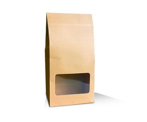 kraft standup window pouch