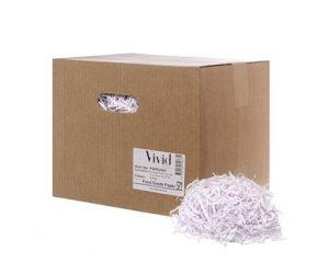 White shredded packing paper