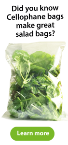Did you know cellophane bags make great salad bags?