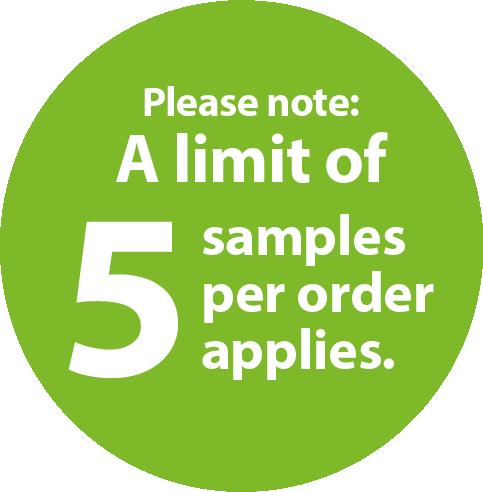 5 samples per order