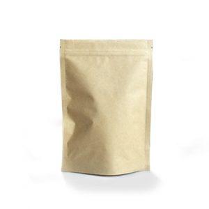 compostable Kraft ziplock pouches