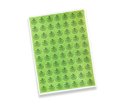 natureflex stickers on a sheet